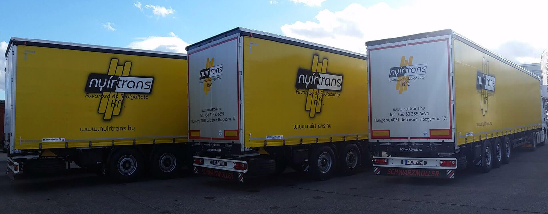 Nyírtrans kamionok